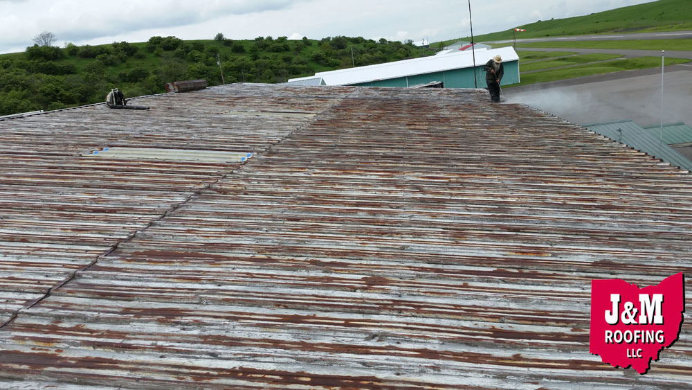 rusty roofing