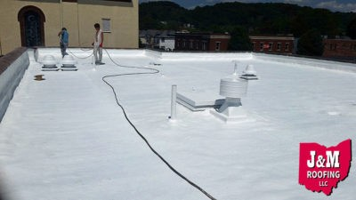 spray polyurethane foam roof coating work