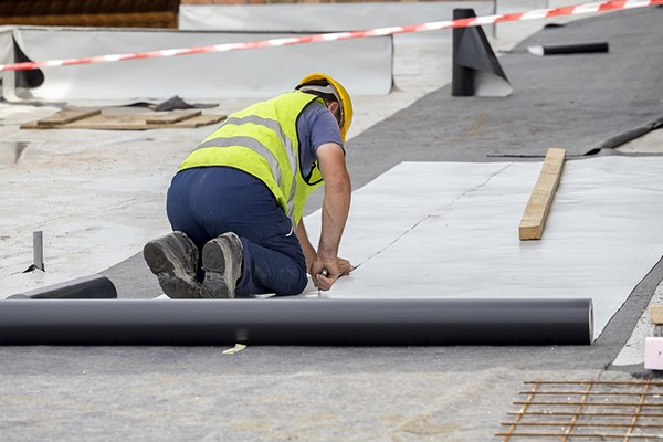 Ongoing installation of a single ply membrane