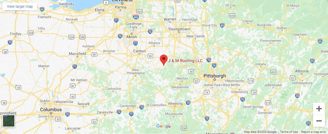 Google map below contact info.